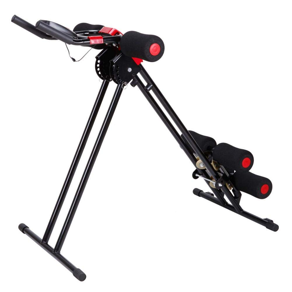 Rainrain27 Straight Linear Type Powerful Private Fitness Club Abdomen Exerciser Vertical Abdominal Machine Beauty Waist Machine for Office Home Black and Red by Rainrain27 (Image #8)