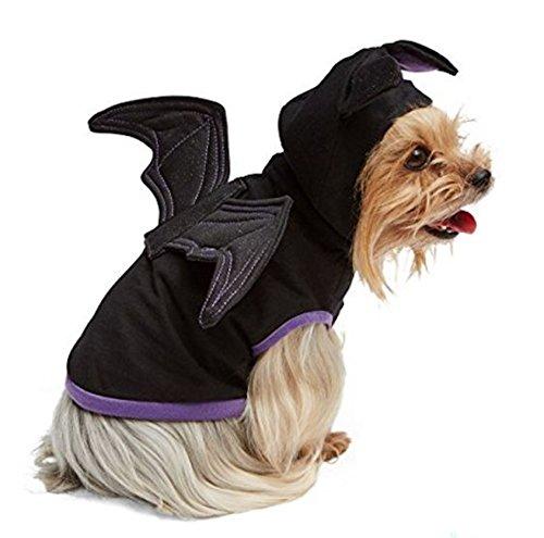 Black Winged Bat Hoodie Pet Dog Costume (X-Large) ()