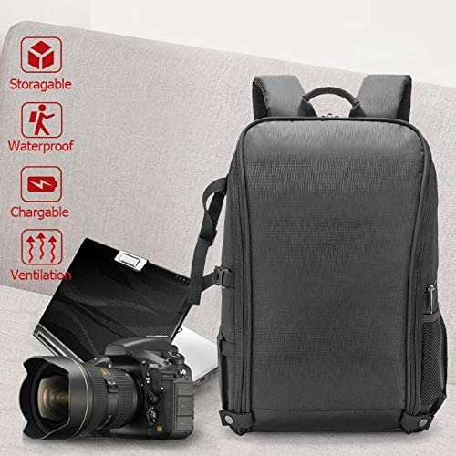 Waterproof Nylon Large Shoulder Backpack Case DSLR Camera and Lens Tripod Holder Bag for Canon Nikon Digital SLR Camera