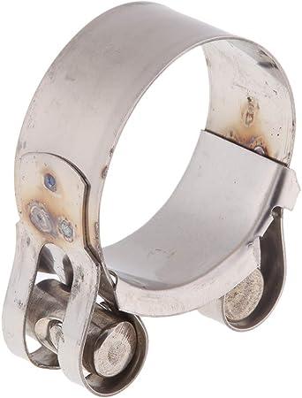 KESOTO Collier de Serrage pour Support de Tuyau d/Échappement de Moto 48-51mm