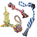 Dog Rope Chew Toys Fun Durable Chew Pet Toy Set for Puppy Small and Medium Dogs - 4 Pack Gift Set by Pecute