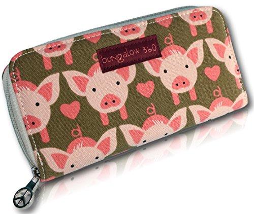 Bungalow 360 Zip Around Wallet (Pig)