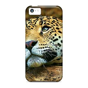 Rugged Skin Cases Covers For Iphone 5c- Eco-friendly Packaging(daydreaming Leopard)