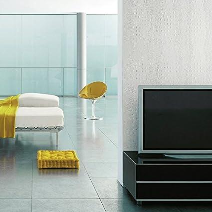 Panel decorativo autoadhesivo de diseño piel de cocodrilo WallFace 13407 CROCO con relieve color blanco mate 2,60 m2: Amazon.es: Bricolaje y herramientas