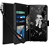 LG G7 Case, LG G7 ThinQ Case, LK Luxury PU Leather Wallet Flip Protective Case Cover with Card Slots and Stand for LG G7 (Black)