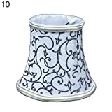 Connoworld Lampshade Creative Bulb Clip Cloth Lampshade Chandelier Wall Lamp Candle Light Cover Decor 10