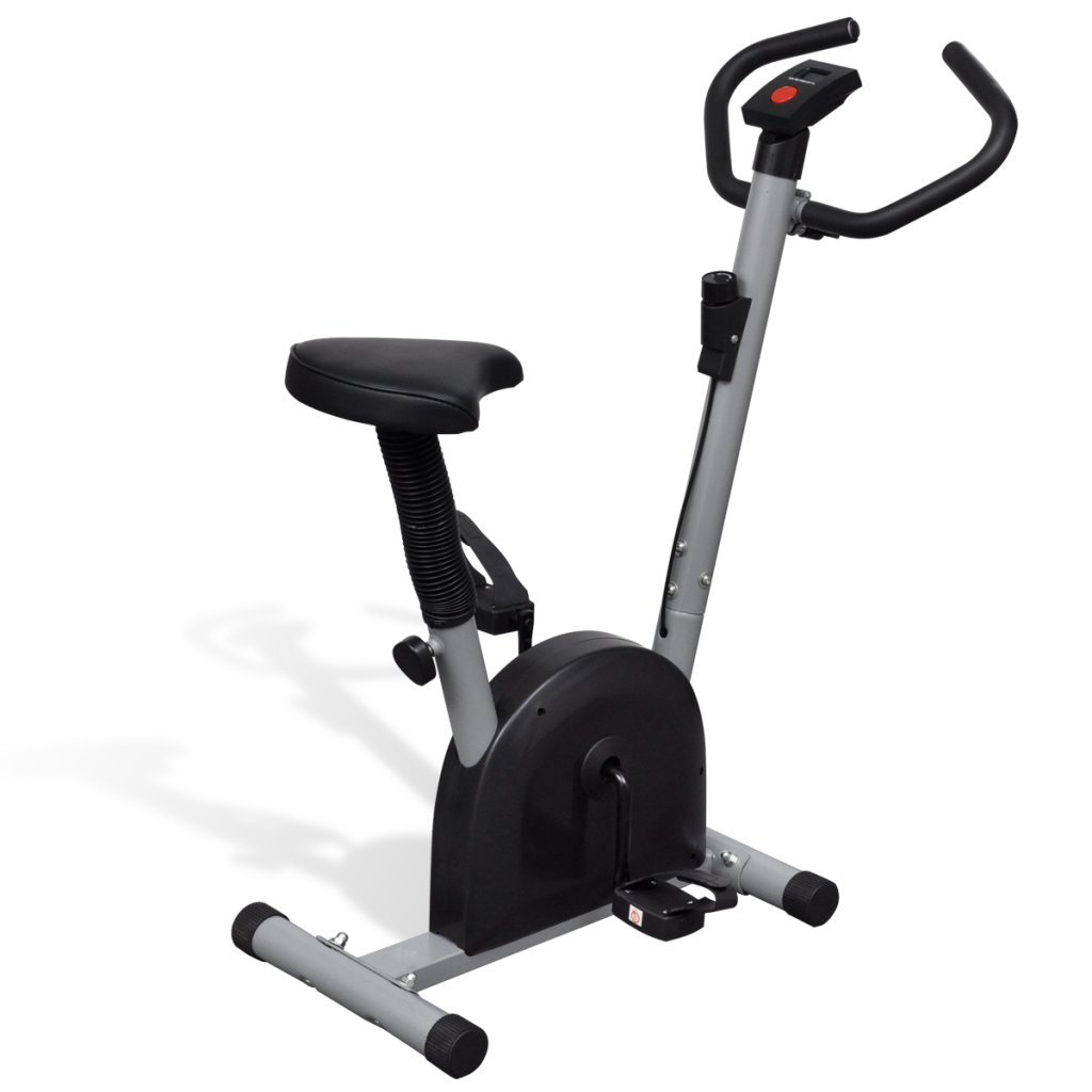 Festnight Heimtrainer Fitnessbike Fahrradtrainer mit Boardcomputer Belastbar bis 100 kg