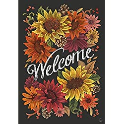 "Briarwood Lane Fall Flowers Welcome Garden Flag Autumn Sunflowers 12.5"" x 18"""