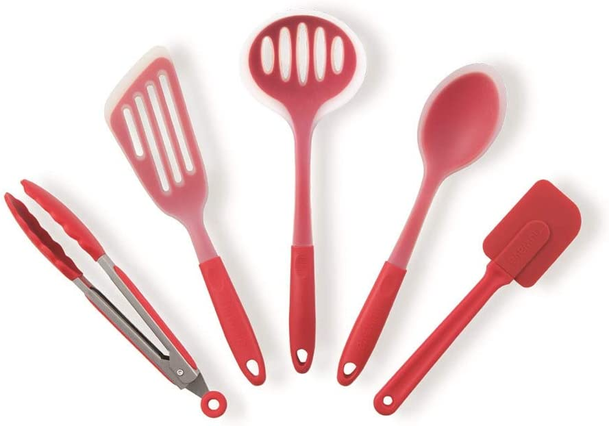 Nuwave 5 pc. Silicone Utensil Set (Red)