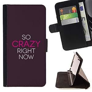 For HTC Desire 820 Case , Loco Ahora cita de motivación de la inspiración- la tarjeta de Crédito Slots PU Funda de cuero Monedero caso cubierta de piel