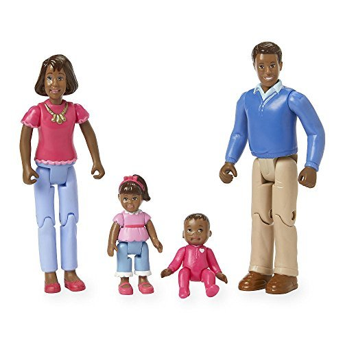 - You & Me Happy Together Family Action Figure Set (Dad, Mom, Daughter, and Baby) (Black Hair)