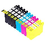 MPC-Direct Compatible Ink Cartridges Replacement for Epson 124 (4x Black, 2x Cyan, 2x Magenta, 2x Yellow, 10-Pack)