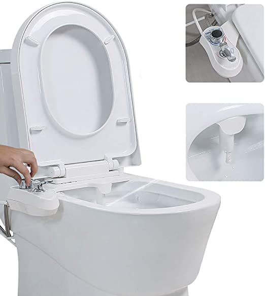 Amazon Com Bidet Attachment Cold Water Spray With Self Cleaning Nozzle No Electricity Easy To Fit Toilet Bidet For Hygienic Personal Care Female Cleaning Cleans Your Rear White 1 2 Home Kitchen