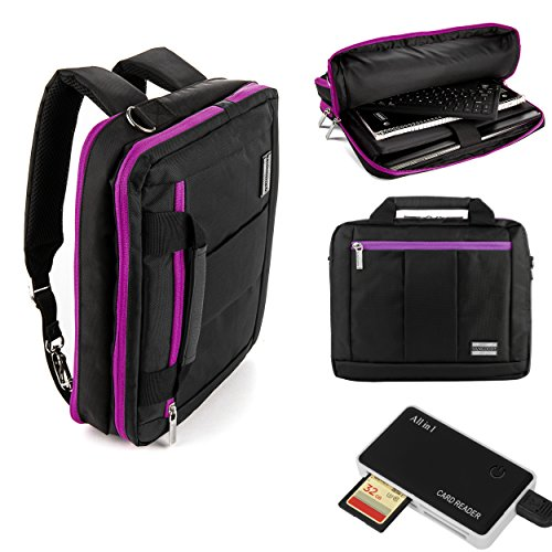 """Price comparison product image Executive Travel Carrying Bag, Messenger Bag & Backpack For Samsung Galaxy Tab PRO / Galaxy Note PRO 12.2"""" Tablet + Suction Bluetooth Speakers w Handsfree Mic"""