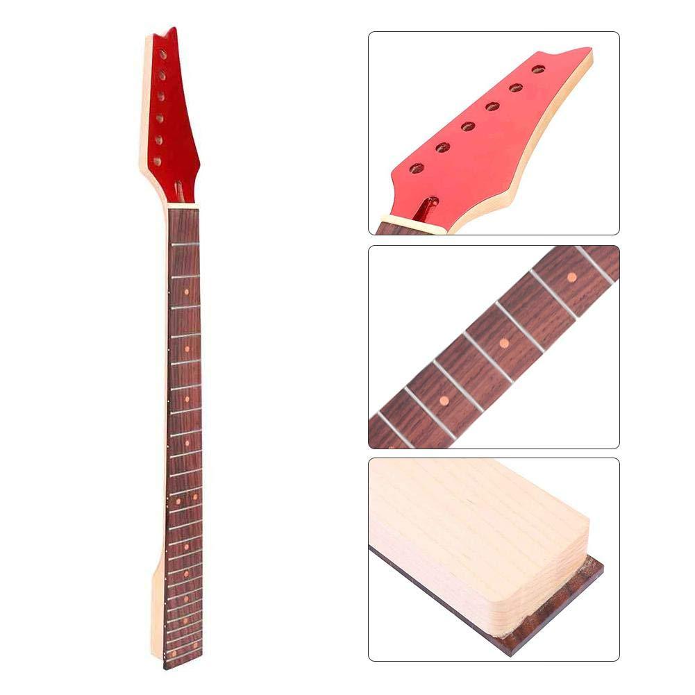 Dilwe Manche de Guitare 24 frettes Manche en /érable pour Guitares /électriques