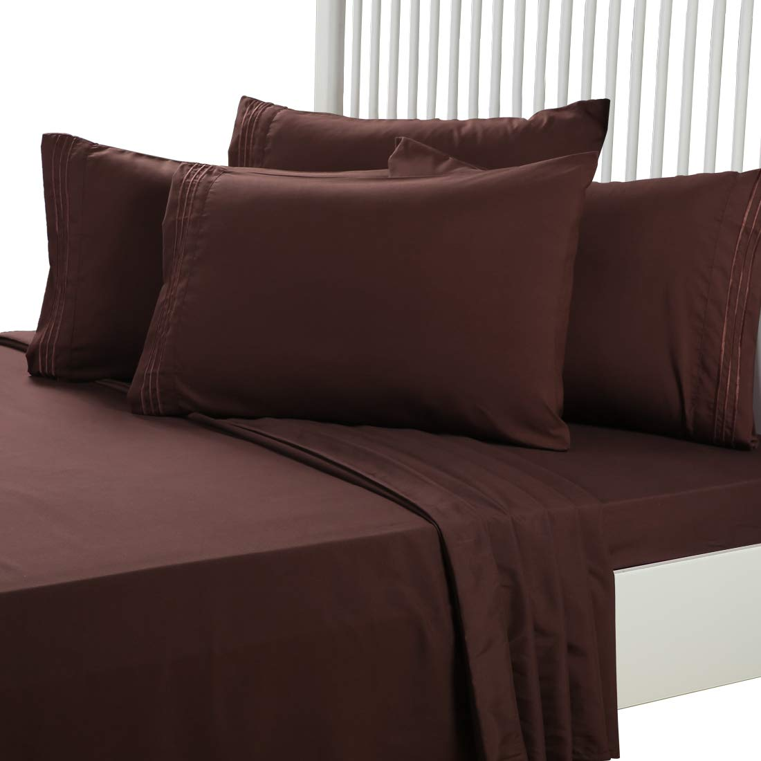 EASELAND 4-Pieces Twin Size Bed Sheets Set 1800 Series Microfiber-Wrinkle /& Fade Resistant,Deep Pocket,Hypoallergenic Bedding Set,Twin,Ivory