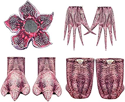 Kids Demogorgon Costumes Halloween Zentai Dress Up Jumpsuit Bodysuit Horror Cannibal Flower Cosplay Party Full Set