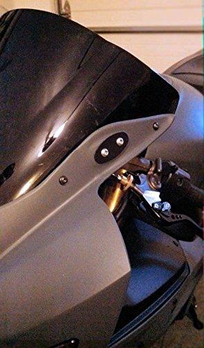 Mirror Base Block Off Plates 1998 2004 Kawasaki Ninja ZX6R ZX-6R 636 ZX636 03 04