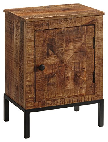 Ashley Furniture Signature Design   Charlowe Nightstand   Solid Acacia Wood Construction   Brown
