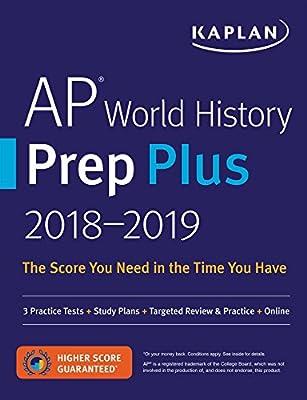 Amazon com: AP World History Prep Plus 2018-2019: 3 Practice