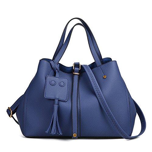 à Dames WYBXA Sac Pompons Diagonale Une Blue Mode Main Boulettes épaule PqRpq0w