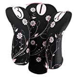 Ladies Black Onyx Club Covers with Swarovski Crystals By Beejo Womens Golf Gift Accessories, Outdoor Stuffs