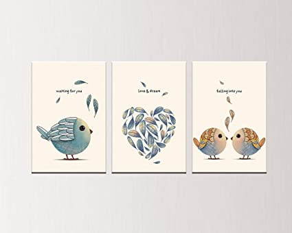 Amazon Com Pulsatingfingertip 2018 Canvas Wall Stickers Birds With