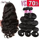 Brazilian Virgin Hair 3pcs lot Remy Human Hair Weave Brazilian Body Wave Bundles No Tangel No Shedding Total 300g/10.5oz Natural Black Hair Review