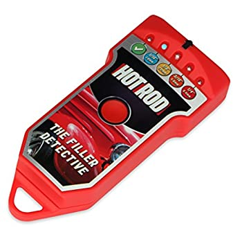 "The Filler Detective - Automotive Body Filler Damage Detector, Car Body Tester (Red - ""HOT ROD"")"