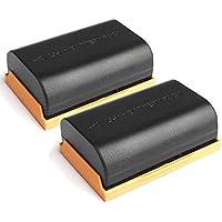 Happyjoy 2 Pack LP-E6 LP-E6N Battery for Canon EOS 5D II, EOS 5D III, EOS 5D IV, EOS 5Ds, EOS 6D, EOS 7D, EOS 7D Mark II, EOS 60D, EOS 70D, EOS 80D DSLR Camera BG-E14 BG-E13 BG-E11 BG-E9 Battery Grips