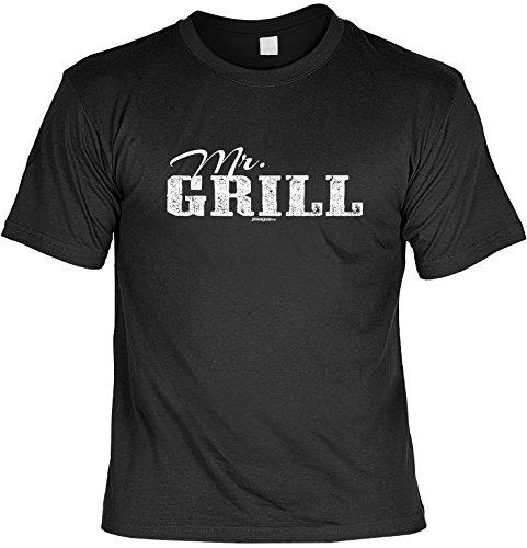 T-Shirt - Mr. Grill - lustiges Sprüche Shirt als Geschenk für Grill Fans mit Humor