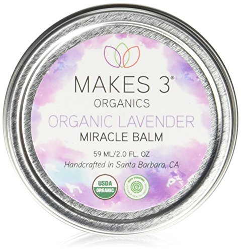 Makes 3 Organics Organic Miracle Body Balm, Lavender, 2 Fluid Ounce - Lavender Body Balm