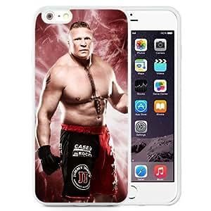 WWE aspeotos WWE 2k15 Brock Lesnar estrellamás Collection 15 Durable TPU silicona iPhone 6plus 5.5 colour blanco en relieve Case