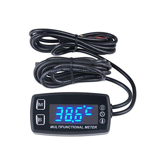 (Runleader RL-HM035LT LED Tach/Hour Meter thermometer temperature meter for gasoline marine outboard paramotor trimmer cultivator tiller)