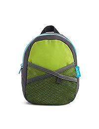 Brica By-My-Side - Mochila con arnés de seguridad, versión original, Verde/Azul, Original version