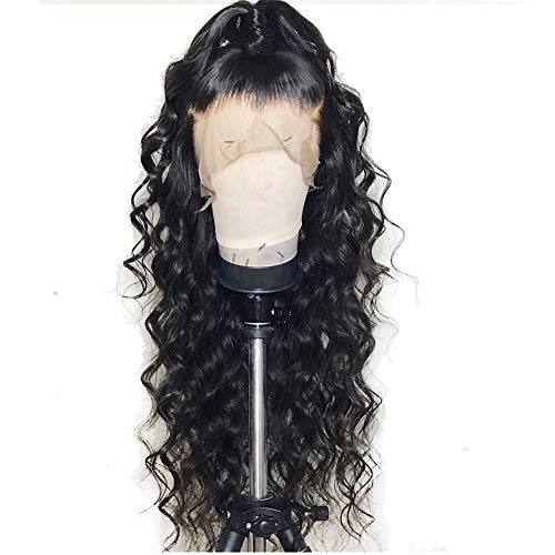 Formal hairLoose Curly Wave Lace Front Human Hair Wigs-Glueless 130% Density Brazilian Virgin Remy Wigs with Baby Hair For Black Woman 12Inch Natural Color