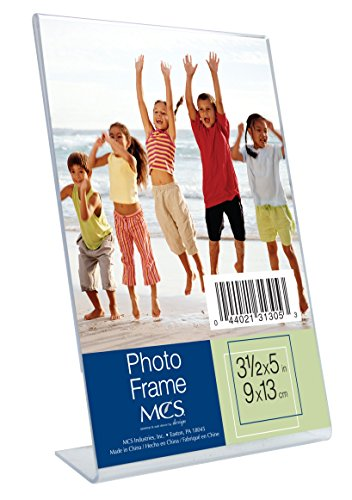 5 Plastic Acrylic (MCS 3.5x5 Inch Bent Acrylic Picture Frame, Vertical (31305))