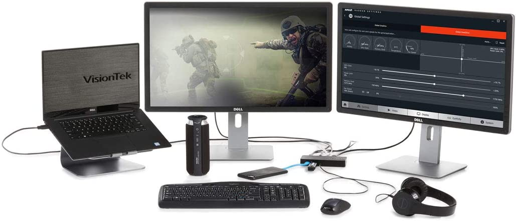 VisionTek VT1000 Universal Dual Display USB 3.0 Dock 901147