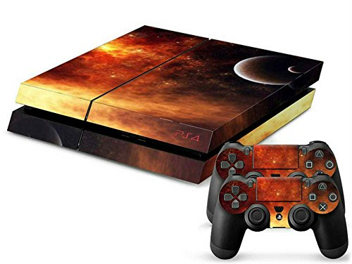 Mod Freakz PS4 Console and Controller Vinyl Skin Decal Red Glow Star Planet