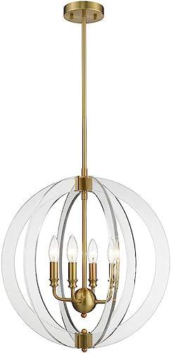 Ove Decors Isabelle 4-LED Brushed Gold Chandelier Light
