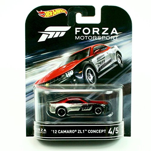 Car Concept Camaro ('12 CAMARO ZL1 CONCEPT from the classic video game FORZA MOTORSPORT Hot Wheels 2016 Retro Entertainment Series 1:64 Scale Die Cast Vehicle (#4 of 5))