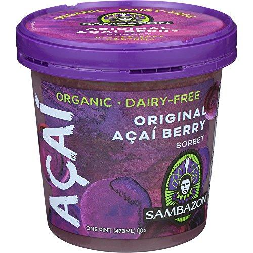 Sambazon Organic Acai Sorbet, 16 Fluid Ounce - 8 per case