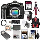 Cheap Pentax K-1 Mark II Full Frame Wi-Fi Digital SLR Camera Body with 64GB Card + Battery + Flash + Backpack + Tripod + Kit