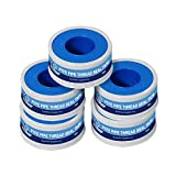 Tools & Hardware : Everflow 811-5 PTFE Thread Seal Tape for Plumbers, White 1/2 Inch x 520 Inch (Pack of 5 Rolls)