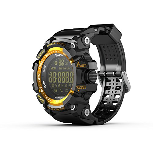 Sports Smartwatch AOWO EX16 Pro Waterproof Smart Watch Bluetooth 4.0 5 ATM & IP67 Extra big Battery Capacity 720 Days Standby Wear Watch for Android and IOS (GOLDEN)