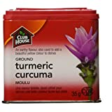 Club House, Quality Natural Herbs & Spices, Ground Turmeric, Plastic Can, 35g