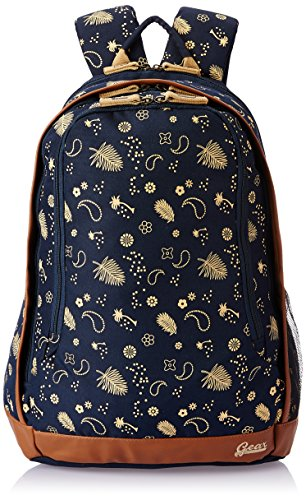 Gear 26 Ltrs Navy Blue and Beige Casual Backpack (BKPTRMP520522)
