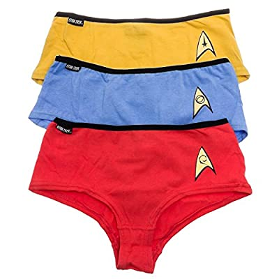 Robe Factory Women's Star Trek OS Uniform Panties Set Of 3