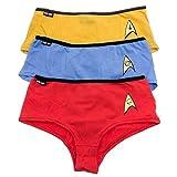 Robe Factory Womens Star Trek OS Uniform Panties Set Of 3