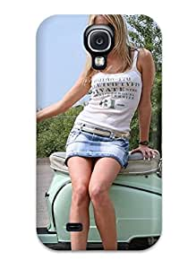 New Arrival Girls And Motorcycles KILQobk7763dcLuk Case Cover/ S4 Galaxy Case